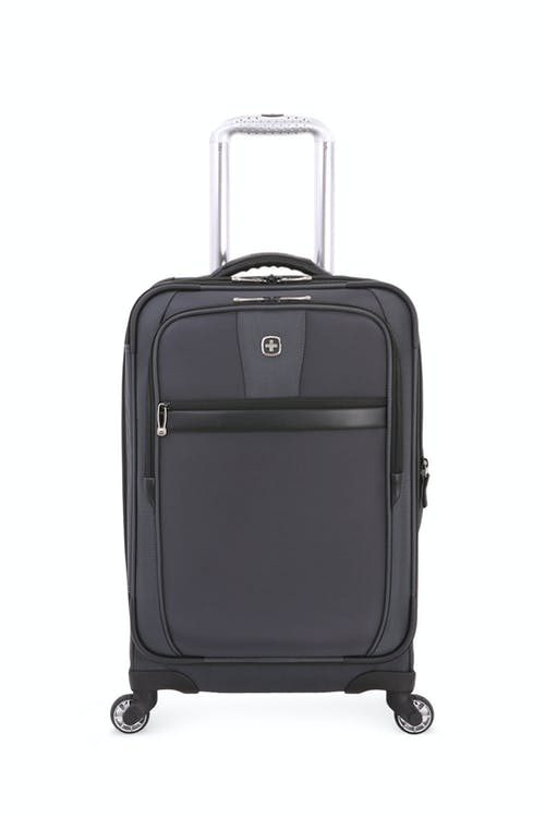 "Swissgear 6369 20"" Expandable Spinner Luggage two Front Pockets"
