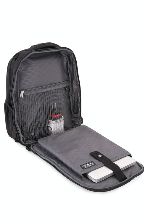 """Swissgear 6392 Scansmart Backpack laptop compartment with padded 15"""" computer sleeve"""