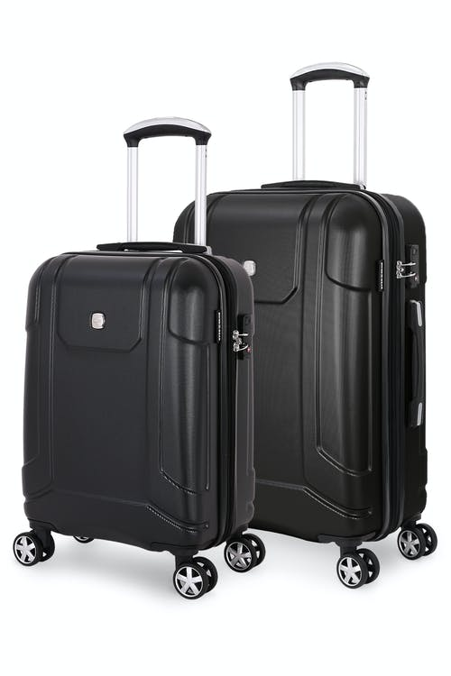 Swissgear 6396 Expandable Hardside Spinner Luggage 2pc Set - Black