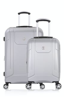 SWISSGEAR 6396 Expandable Hardside Spinner Luggage 2pc Set - Silver