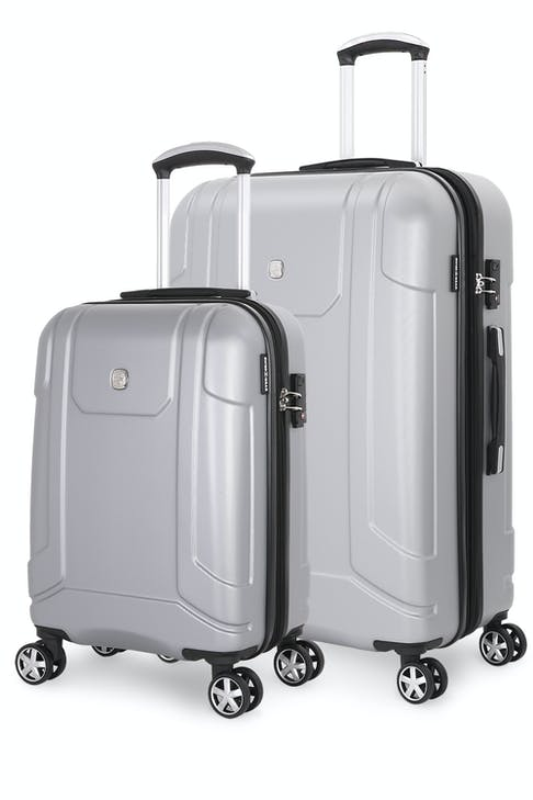 SWISSGEAR 6396 Expandable Hardside Spinner 2pc Set - Silver
