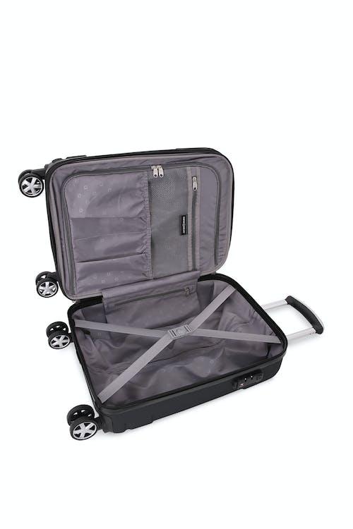 "SWISSGEAR 6396 Expandable 19"" Hardside Spinner Large interior zippered mesh pocket"