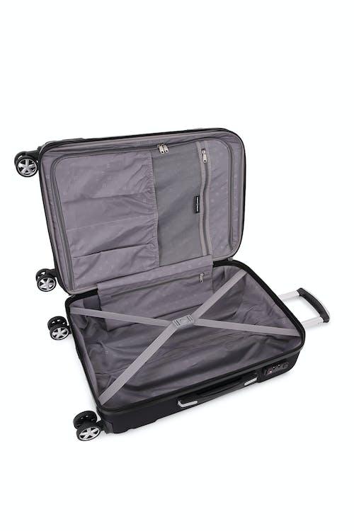 "SWISSGEAR 6396 Expandable 24"" Hardside Spinner Large interior zippered mesh pocket"