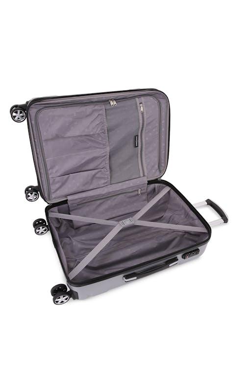 "SWISSGEAR 6396 24"" Expandable Hardside Spinner Large interior zippered mesh pocket"