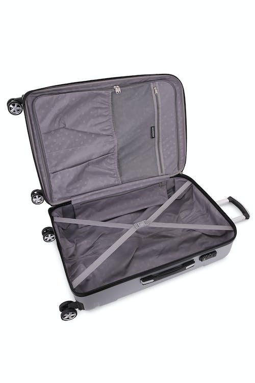 "SWISSGEAR 6396 27"" Expandable Hardside Spinner Large interior zippered mesh pocket"