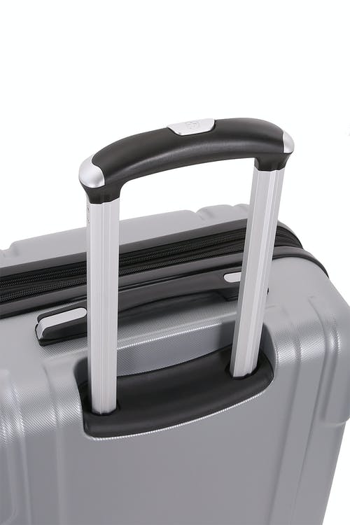 "SWISSGEAR 6396 24"" Expandable Hardside Spinner Aluminum, push button locking telescopic handle"