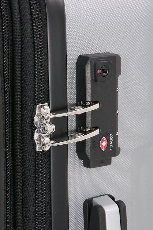 SWISSGEAR 6396 Expandable Hardside Spinner Integrated TSA approved combination lock