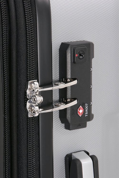 "SWISSGEAR 19"" Expandable Hardside Spinner Integrated TSA approved combination lock"