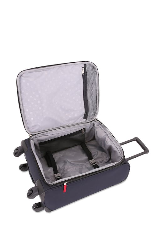 "SWISSGEAR 6397 18.5"" Expandable Liteweight Spinner Luggage Adjustable, tie-down clothing straps"