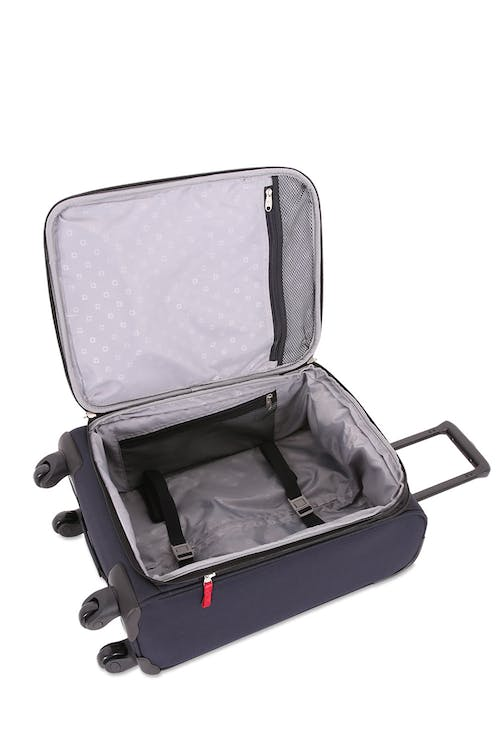 "Swissgear 6397 24"" Expandable Liteweight Spinner Luggage Adjustable, tie-down clothing straps"