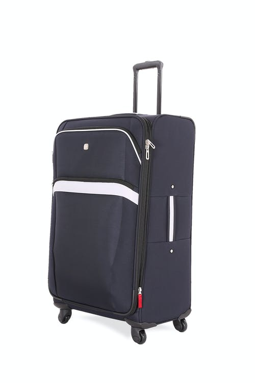 "Swissgear 6397 24"" Expandable Liteweight Spinner Luggage - Noir/Gray"