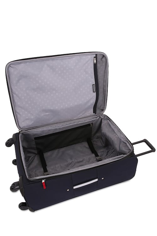 "Swissgear 6397 28"" Expandable Liteweight Spinner Luggage Adjustable, tie-down clothing straps"
