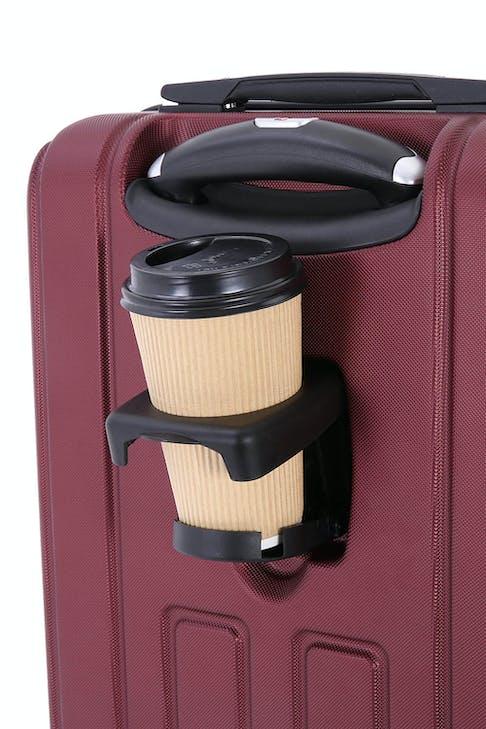 """SWISSGEAR 6399 Wine 20"""" Hardside Spinner - Cup Holder"""