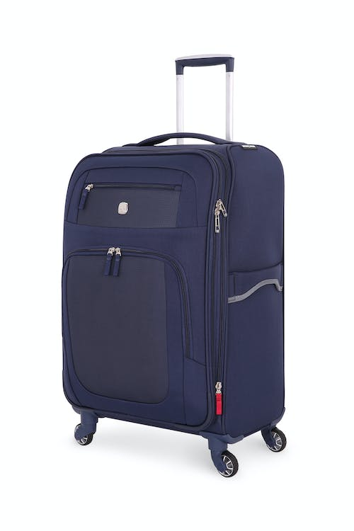 "SWISSGEAR 6570 24"" Liteweight Spinner Luggage expands by 1.5"""
