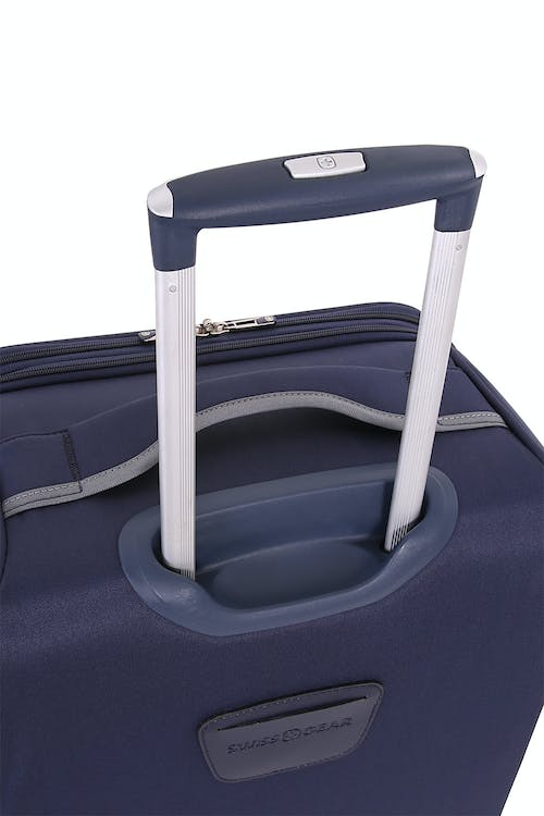 "SWISSGEAR 6570 24"" Liteweight Spinner Luggage aluminum, push button locking telescopic handle"