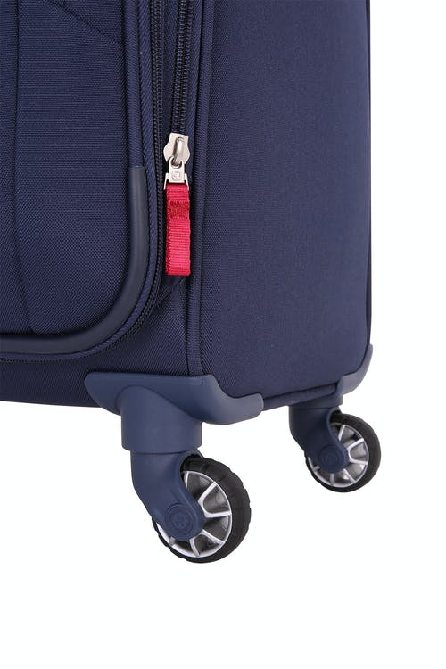 "SWISSGEAR 6570 24"" Liteweight Spinner Luggage four 360 degree, multi-directional spinner wheels"