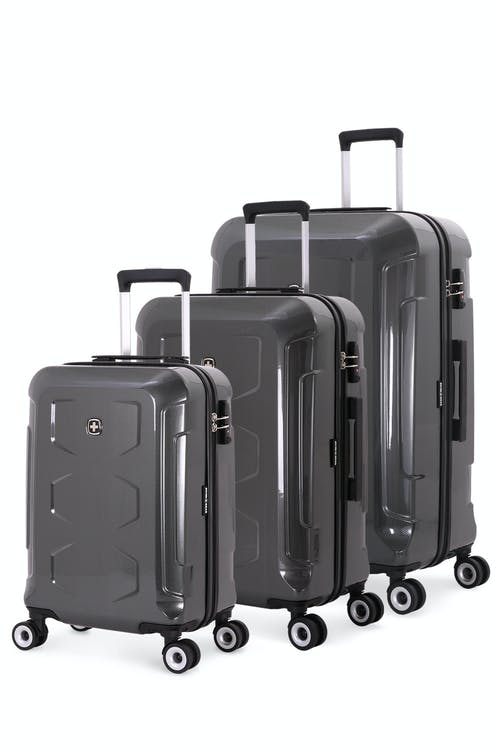 swissgear 6572 limited edition 3pc hardside spinner luggage set black