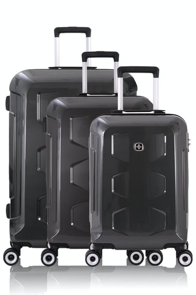 Swissgear 6572 Limited Edition Hardside Spinner Luggage 3pc Set - Black