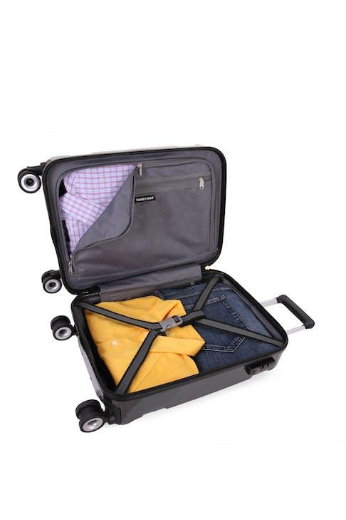 "SWISSGEAR 6572 18.5"" Hardside Spinner Clothing tie-down straps"