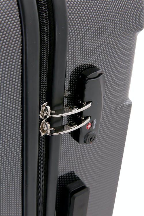 "SWISSGEAR 6572 27"" Hardside Spinner Integrated TSA approved combination lock"