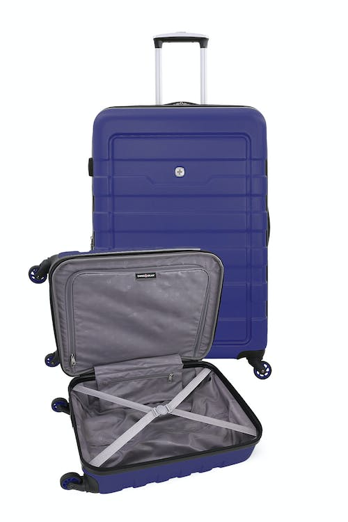 """SWISSGEAR 6581 18"""" and 27"""" Expandable Hardside Spinner Luggage Large interior zippered lid pocket"""
