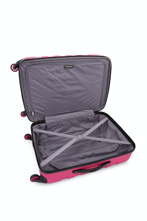 """Swissgear 6581 23"""" Expandable Hardside Spinner Luggage Clothing tie-down straps"""