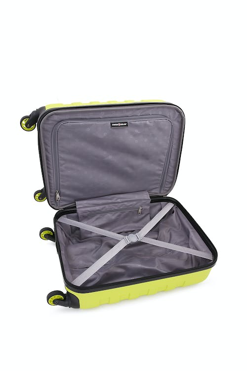 """SWISSGEAR 6581 18"""" Expandable Hardside Spinner Luggage Clothing tie-down straps"""