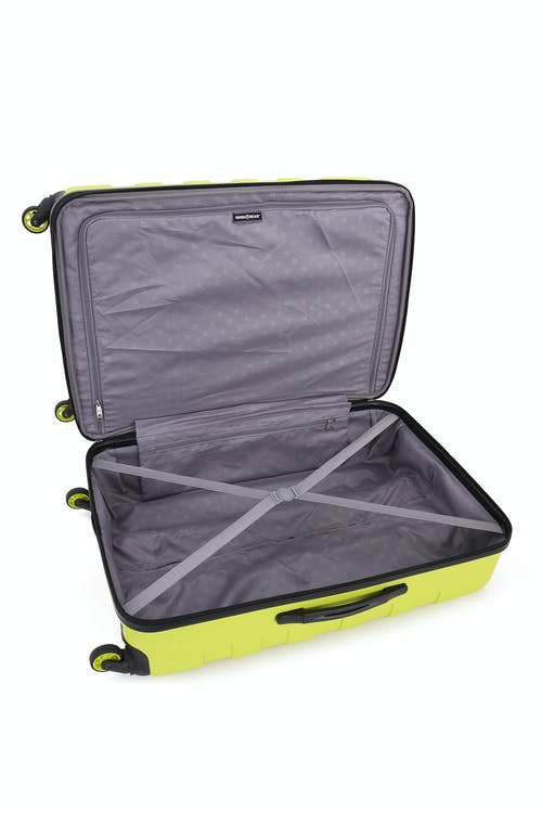"""SWISSGEAR 6581 27"""" Expandable Hardside Spinner Luggage Clothing tie-down straps"""