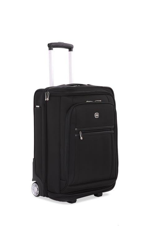 "SwissGear 6590 Geneva 20"" Carry On Luggage w/ Garment in Black"