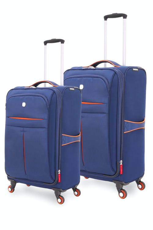 SWISSGEAR 6593 Spinner Luggage 2pc Set - Navy/Orange