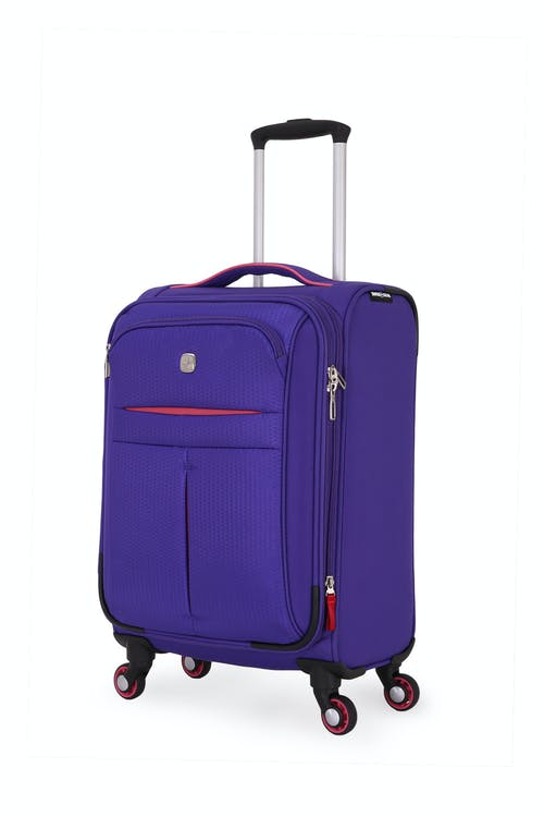 "Swissgear 6593 18"" Expandable Liteweight Carry On Spinner Luggage"