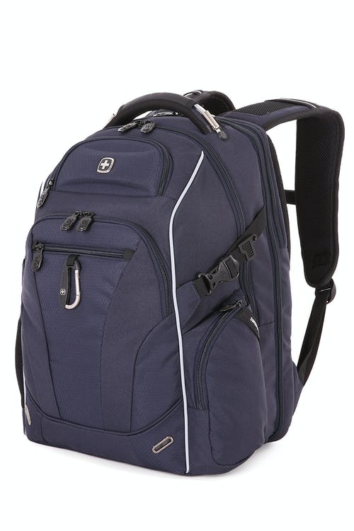 SWISSGEAR 6752 ScanSmart TSA Laptop Backpack in Noir Satin