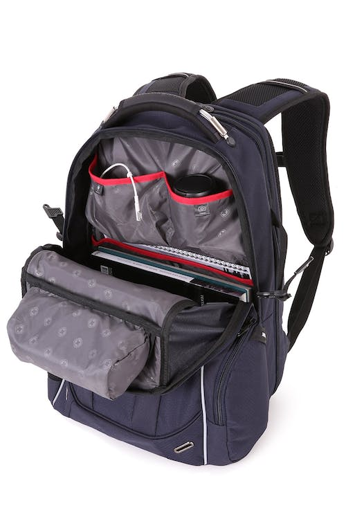 SWISSGEAR 6752 SCANSMART LAPTOP BACKPACK LARGE CAPACITY MAIN COMPARTMENT WITH MULTIPLE ORGANIZATION POCKETS