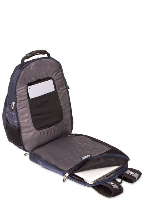 SWISSGEAR 6939 ScanSmart Backpack - Unobstructed, ScanSmart lay-flat technology