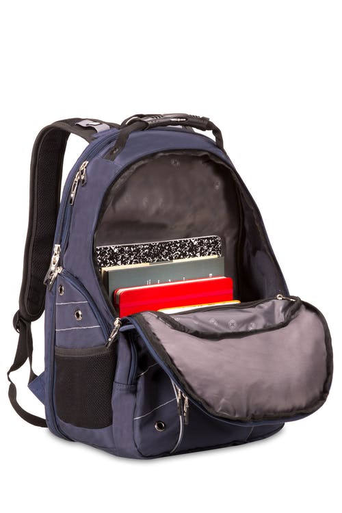 SWISSGEAR 6939 ScanSmart Backpack - Main interior compartment with mesh pocket for adaptor and charger cords