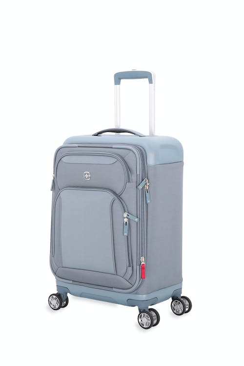 """Swissgear 7207 New Tensilite 19"""" Expandable Luggage - Silver/Blue"""