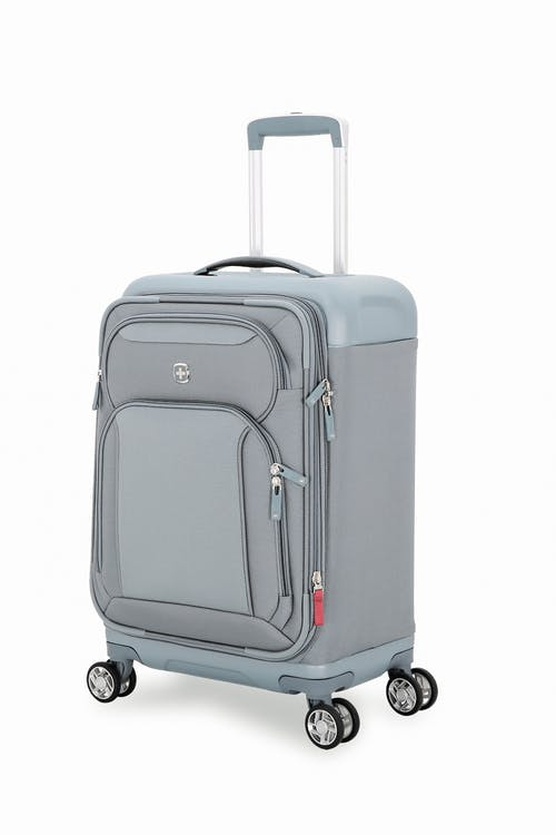 """Swissgear 7207 19"""" New Tensilite Expandable Carry On Luggage - Silver/Blue"""