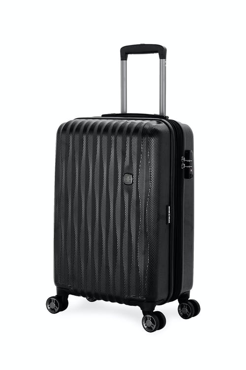 "Swissgear 7272 19"" USB Energie Expandable Carry On Hardside Spinner Luggage - Black"