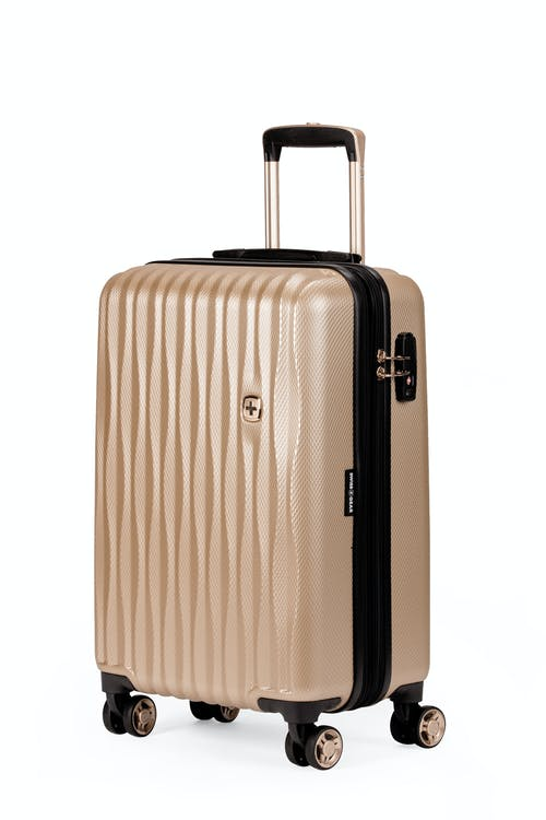 "Swissgear 7272 19"" USB Energie Expandable Carry On Hardside Spinner Luggage - Gold"