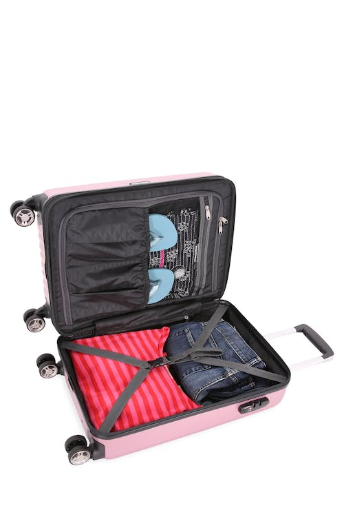 "Swissgear 7272 19"" Energie Hardside w/USB Large split case interior"