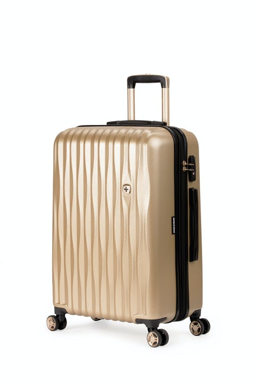 "Swissgear 7272 24"" Energie Expandable Hardside Spinner Luggage - Gold"