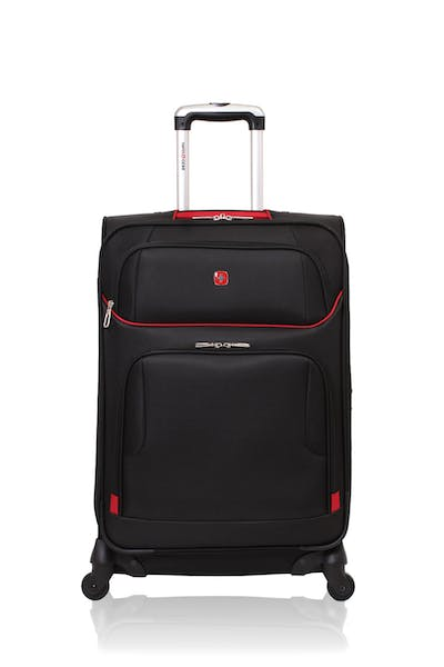 "Swissgear 7317 24"" Expandable Spinner Luggage - Black/Red"