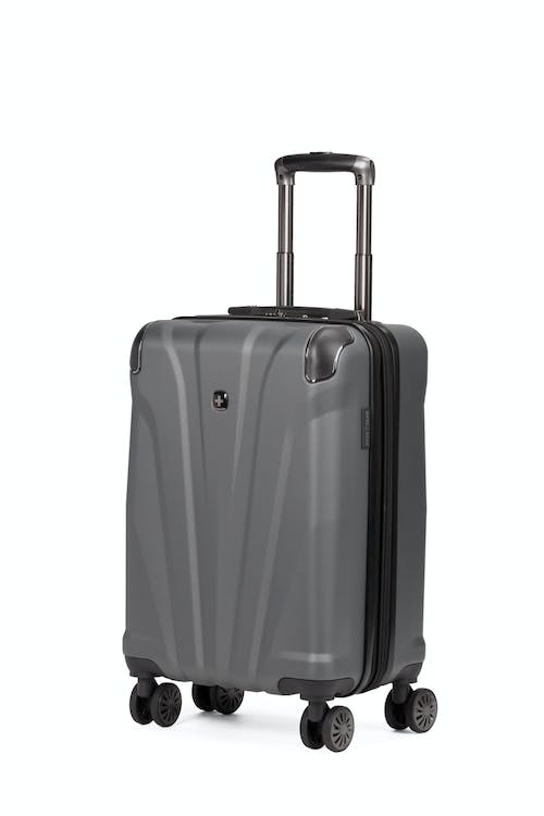 """Swissgear 7330 19"""" Expandable Carry On Hardside Spinner Luggage - Slate Cement"""