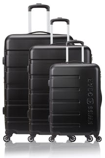 Swissgear 7366 Expandable 3pc Hardside Luggage Set - Black