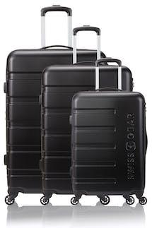 Swissgear 7366 Expandable Hardside Luggage 3pc Set- Black