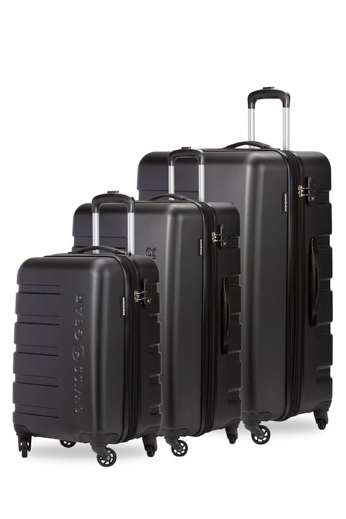 swissgear 7366 expandable 3pc hardside luggage set