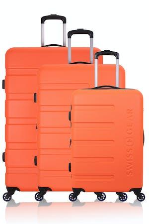 Swissgear 7366 Expandable Hardside Luggage 3pc Set- Orange