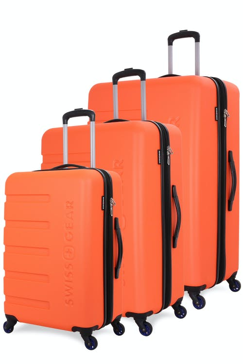Swissgear 7366 Expandable Hardside Luggage 3pc Set - Orange