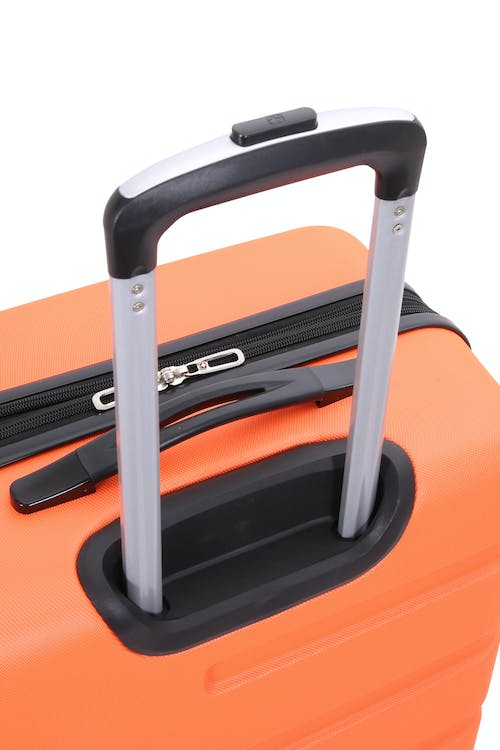 Swissgear 7366 Expandable Hardside Luggage push-button aluminum locking telescopic handle
