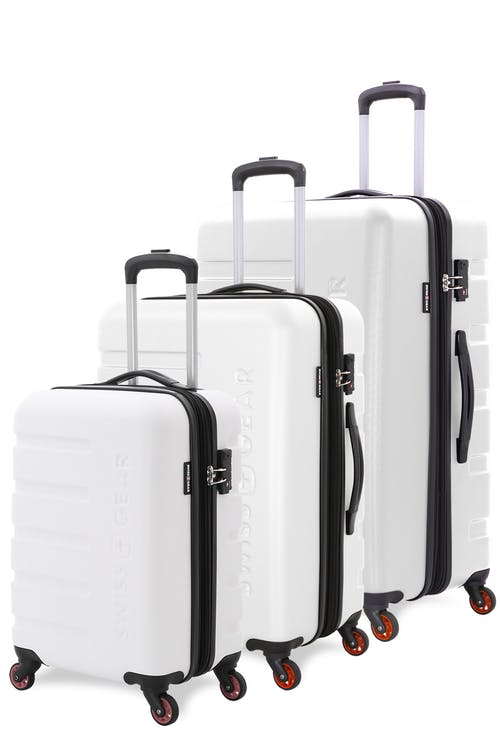c85412a194d9 Swissgear 7366 Expandable 3pc Hardside Luggage Set - White
